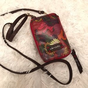 Sakroots | Crossbody Wallet | Red Floral